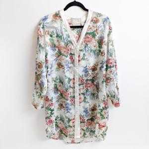 VTG 90s Lace Victoria Secret Floral Tunic